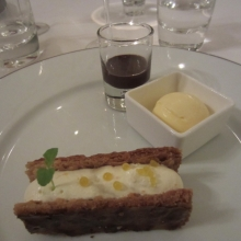 Dessert at Chateau Etoges - Choclate, Ice Cream and a Pastry