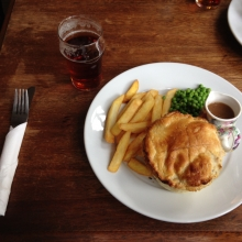 A hearty meal at George & Dragon, Downe