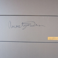 Amartya Sen (A Nobel Prize winner) - Wrote on the WTO Wall