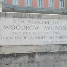 In Honor of Woodrow Wilsom - Founder of the League of Nations