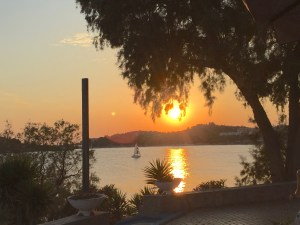 Sunset in Vouliagmeni, Greece