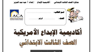 Photo of أكاديمية الإبداع مذكرة لغتي العربية الصف الثالث 2017-2018
