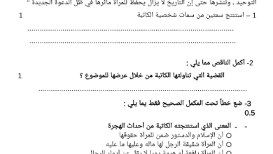 Photo of امتحان تجريبي 2  لغة عربية الصف العاشر الفصل الثاني منطقة مبارك الكبير 2016-2017