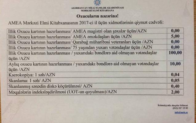 """""""Azərbaycanda 5 manatlıq xidmət 100-ə qaldırıldı  -  Rəsmi açıqlama"""