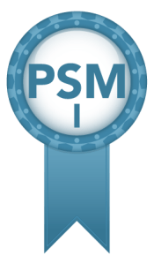 PSM I certificate badge