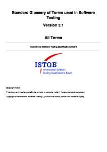 ISTQB Glossary v3.1 All Terms EN