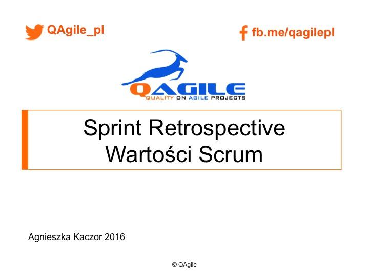 Sprint Retrospective Wartosci Scrum