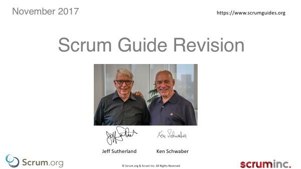 Scrum Guide 2017 — zmiany w przewodniku