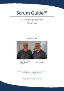 Scrum Guide 2017 PL Polski
