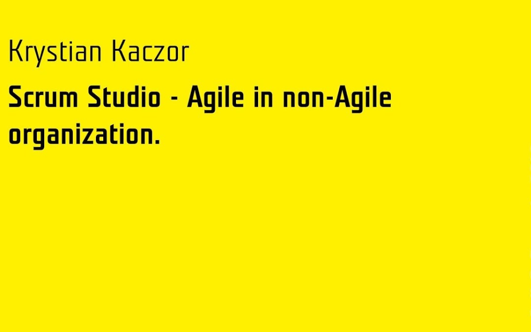 Scrum Studio — slajdy i video z Agile by Example