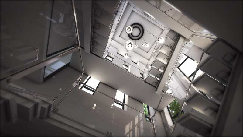 3D design Stairwell interior render