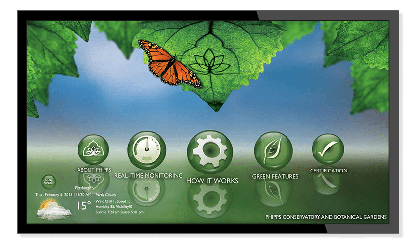 Energy Dashboard display