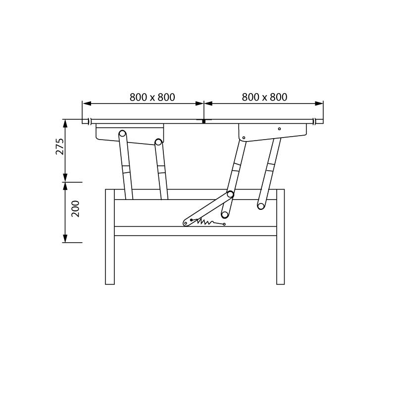 Ferrure Pour Table Basse Transformable A 2 Plateaux Pliants Itar Qama Quincaillerie