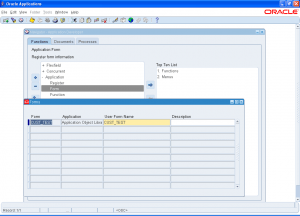 Oracle Customized Form R12