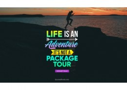 What is adventure in life?