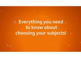 How to choose subjects for future goals?