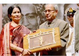 Who is the first woman to receive Jnanpith Award?