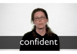what is the antonym for confident