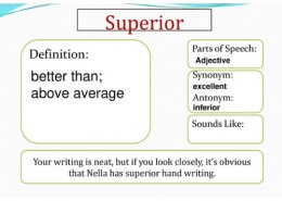 what is the antonym for superior