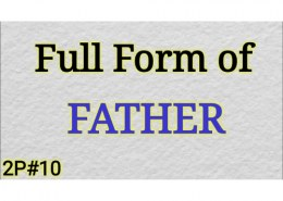 What is full form of father?