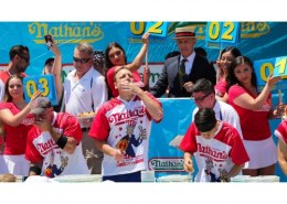 How do you get into the Nathan's Hot Dog Eating Contest?