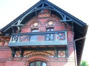 Detail Rekonstruktion Holzbalkon, Dachbögen