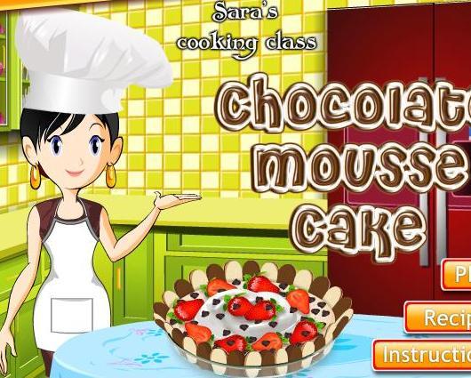 Sara Cooking Class Chocolate Mousse Cake
