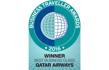 Qatar Airways was recognised as the Best Business Class at the 2016 Business Travllers awards in London