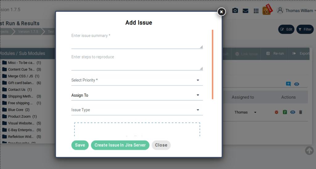 Add Test Issue