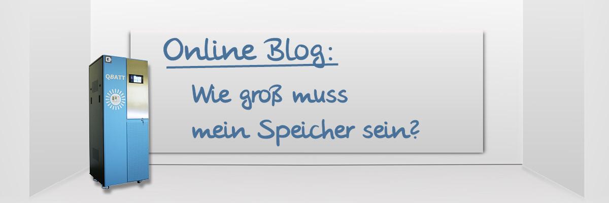 Online Blog: Wie groß muss mein Speicher sein?