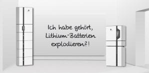 Explodieren Lithium Batterien