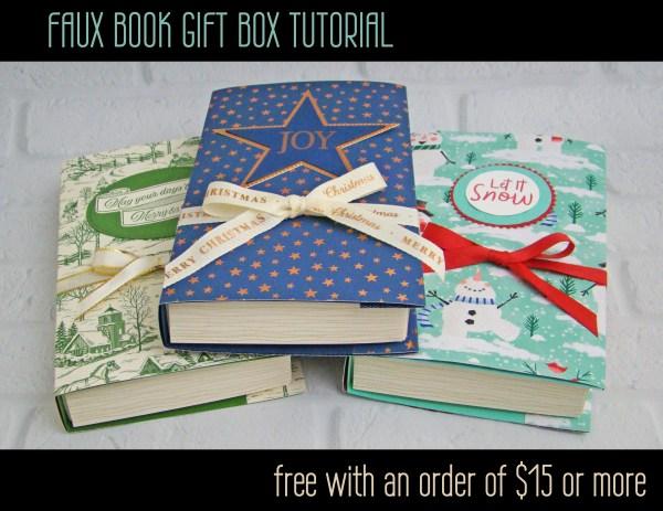 Faux Book Gift Box Tutorial