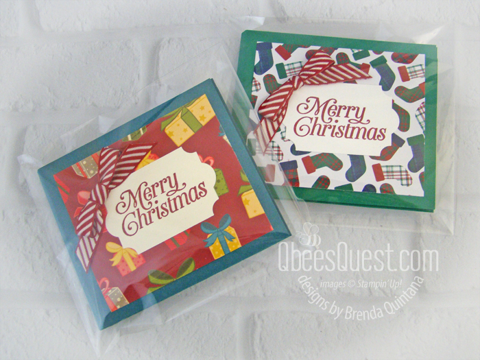 Christmas Gift Card Wallets in Clear Envelopes