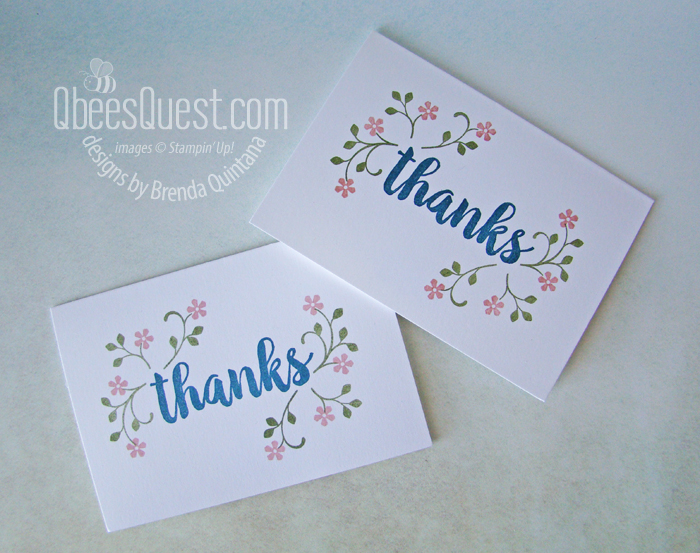 Thoughtful Blooms Thanks You Note Cards
