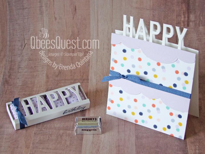 Happy Hershey's Nugget Holder & Cake Card