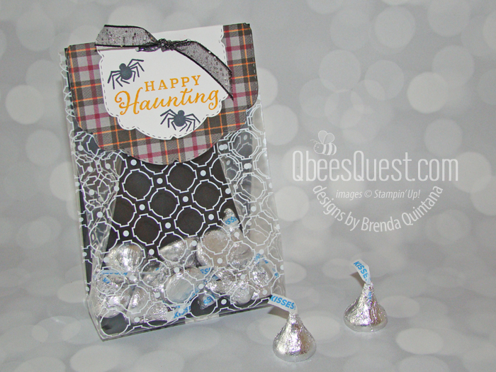Stampin' Up Celebration Tidings Halloween Treat Bag