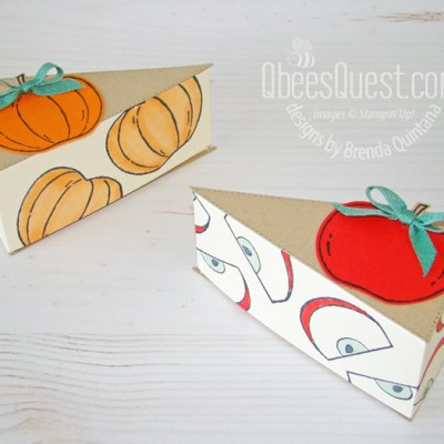 Stampin' Up Stitched Triangles Pie Slices