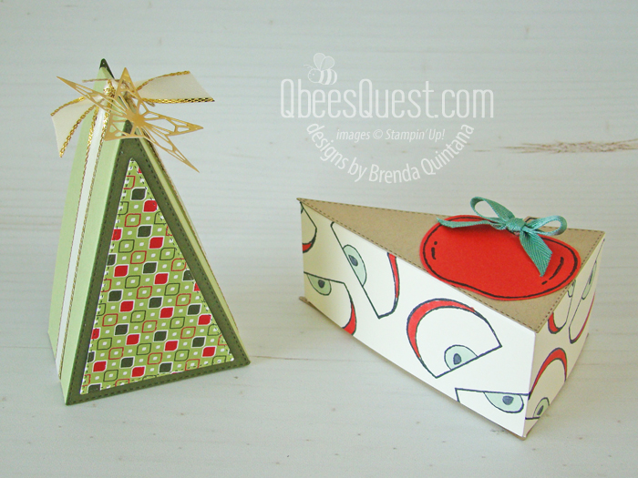 Stampin' Up Stitched Triangles Pie & Christtmas Tree