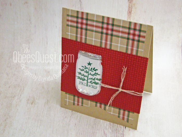 Stampin' Up Christmas Jar Shaker Card