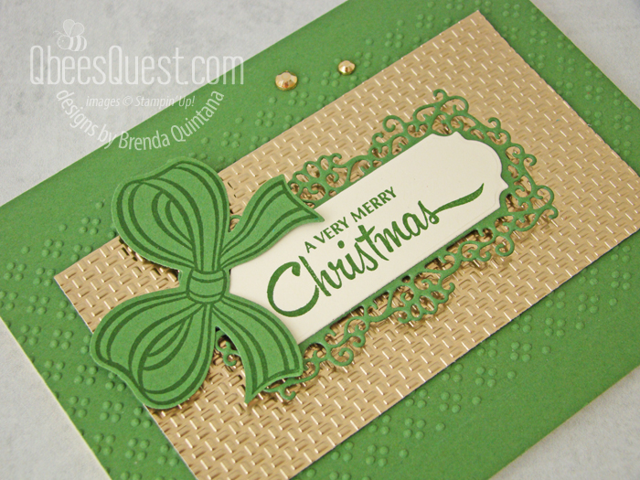 Stampin' Up Gift Wrapped Card