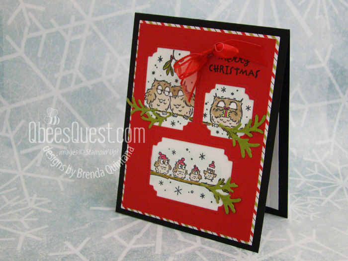 Stampin' Up Have a Hoot Christmas Card