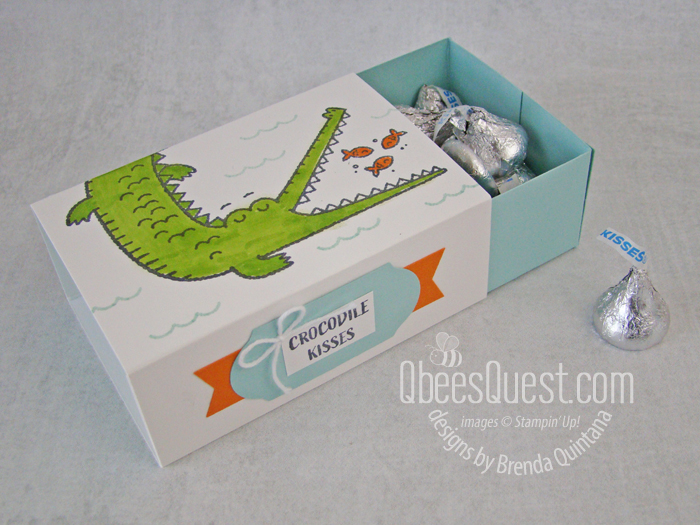 Stampin' Up Slider Treat Box from Scratch