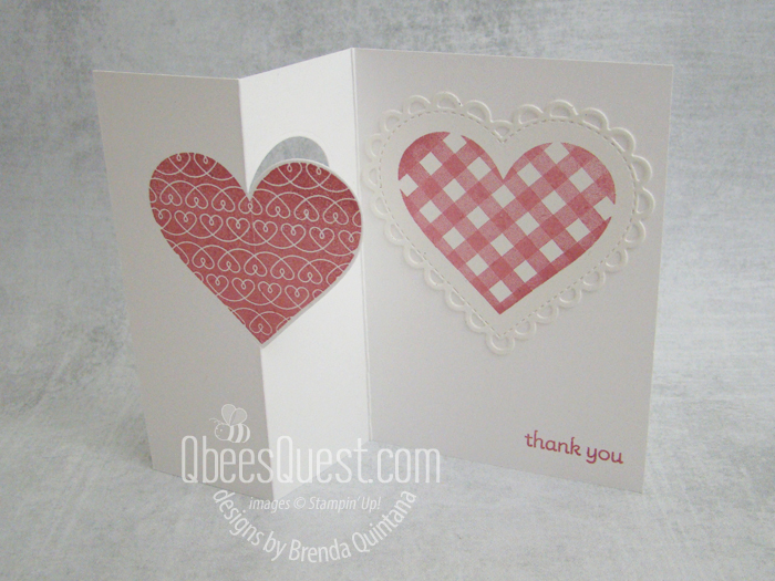 Stampin' Up Lots of Heart Fancy Fold Note Card