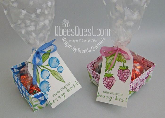 Diagonal Fold Berry Baskets
