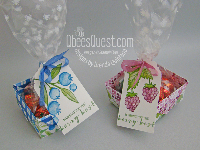 Diagonal Fold Berry Baskets