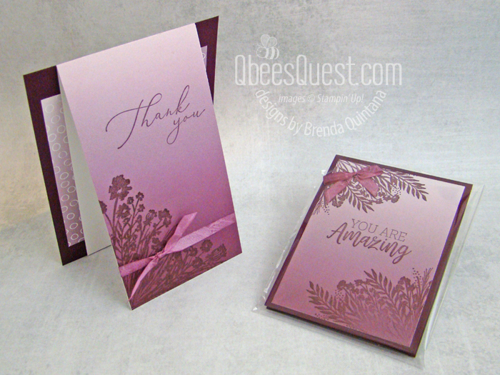 Stampin' Up Corner Bouquet Post-it Note Holder & Card