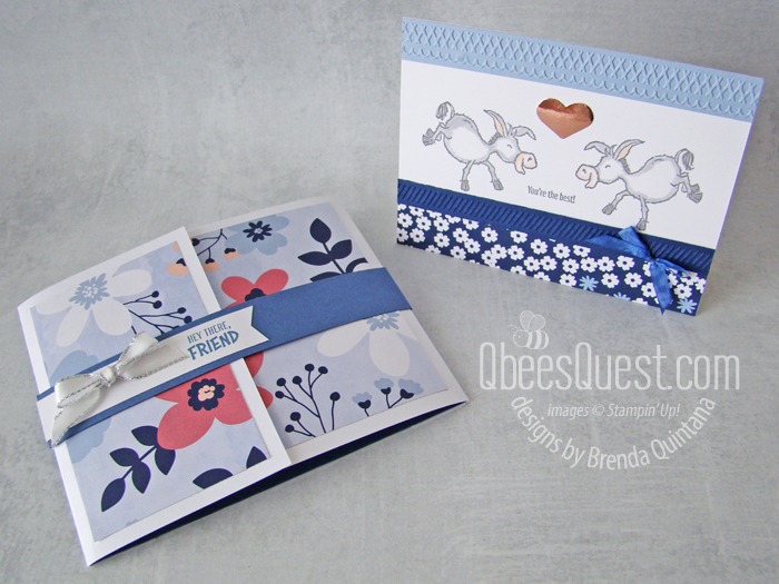 Darling Donkeys Card & Holder