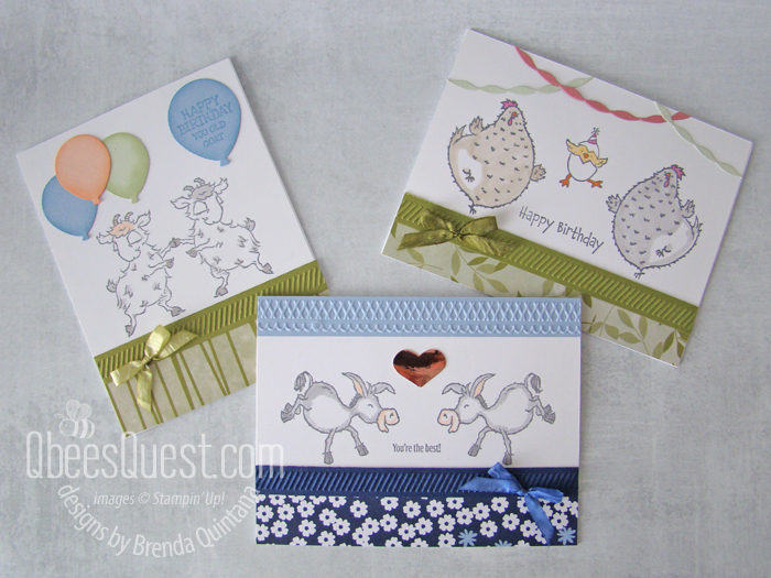 Darling Donkeys, Goats & Chickens Mirror Cards