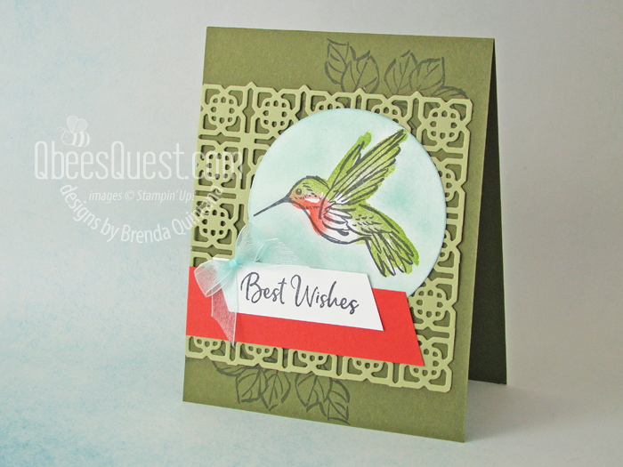 Stampin' Up A Touch of Ink Card
