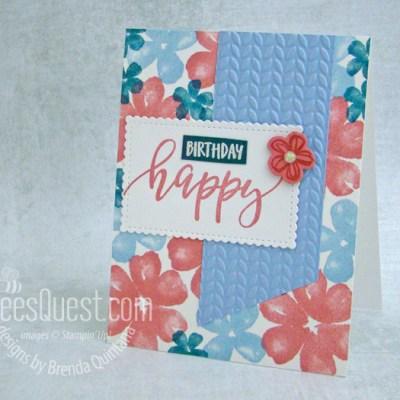 Pretty Perennials Birthday Card